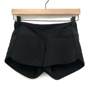 Lululemon Black Speed Shorts - Size 2